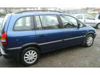 2002 Vauxhall Zafira 7 seater 1.6i 16v ( with BEST OFFERS )