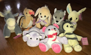 Precious Moments Plush Stuffed Animal Lot of 8 with Tags