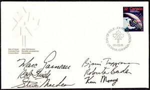 1985 First Day Stamp Cover Signed by Six Canadian Astronauts
