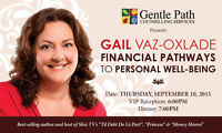 Gentle Path Celebrity Dinner with Author/TV Host Gail Vaz-Oxlade