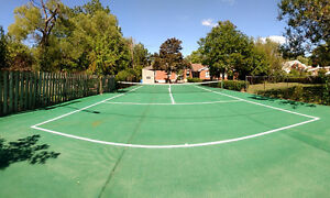 $475 May  TENNIS COURT - only a  min.walk to bus #16 to Brock
