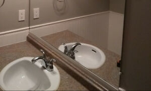 Vanity countertop with sink and faucet