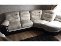 Leather corner dfs sofa