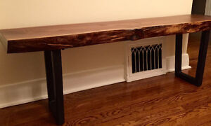 Black Walnut Handmade Bench or Coffee table