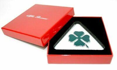 Set 2 Pegatinas Emblemas Friso Trébol Verde Originales Alfa Romeo Malo- Qv...