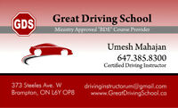 Certified Driving Instructor