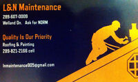 Call L & N Maintenance for ALL your roofing needs