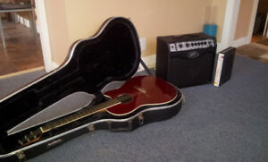 Ovation Guitar, Peavy Amp and ABS hard case