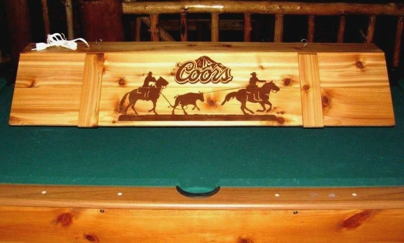 New Team Roping Horse Coors Pool Table Light Billiards Light Cowboy Western