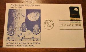 1969 APOLLO 8 FIVE (5) Different 6 Cent First Day Covers Kitchener / Waterloo Kitchener Area image 4