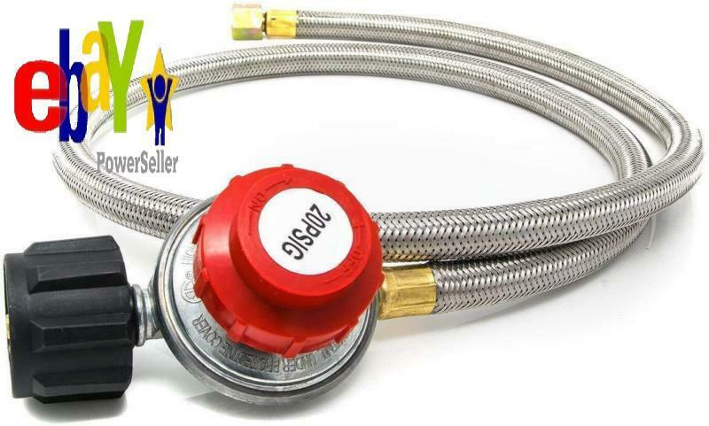 Gas One 2113 0-20PSI Propane Regulator with Hose 4 ft for Tu
