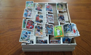 3000 cartes de baseball upper deck, topps, etc+++