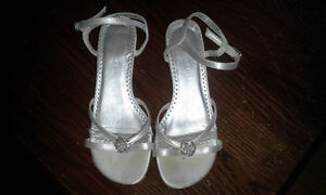 White- Dave's Bridal Carly Girl Shoes