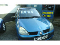 2005 Renault Clio 1.2 16v ( £995 with BEST OFFERS )