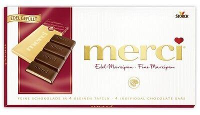 STORCK - Merci Chocolate Bar - Fine Marzipan - 112 gr - German Production