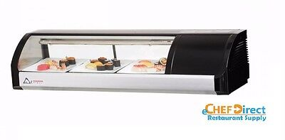 Everest Esc47r 47-14 Right Compressor Curved Glass Refrigerated Sushi Case