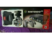 Nintendo N64 boxed console.