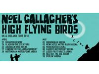 Noel Gallagher's High Flying Birds - 2 Tickets Standing, Cardiff 6th May