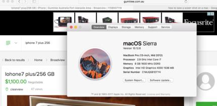 "MacBook Pro 13"" core I7"