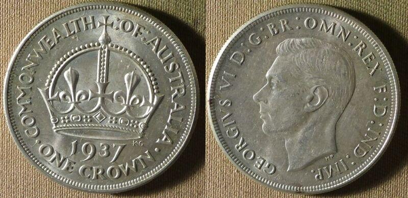 Australia  : 1937 1 Cr. BU Beautiful  #34  IR8437