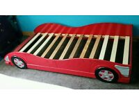CHILD'S RACING CAR SINGLE BED, CHILDREN / CHILD / BOY