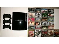 PS3 , 3x Wireless controllers , x25 Games