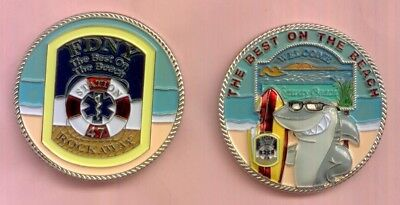 FDNY EMS Station 47 Challenge Coin - Limited Edition Rockaway