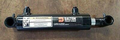 Dalton Hydraulic Cross Tube Cylinder 2 Bore 6 Stroke 3000 Psi 38 Npt Ports