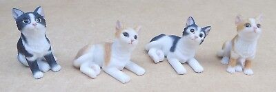 4 Small Resin Cat Figurines