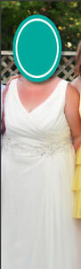 Ivory A-line Wedding gown Size 20 Cambridge Kitchener Area image 5
