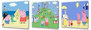 Peppa Pig II set of Three Wall / Plaques canvas pictures