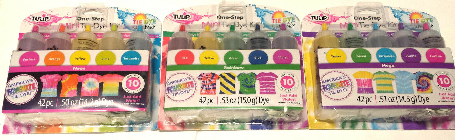 3 Packs Of Tulip One Step Tie Dye Shirt Kit ‑ 42 Pc Set E...