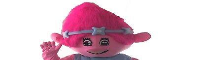 Trolls Papavero Adulto Costume da Mascotte Testa di Compleanno Halloween  Cosplay fe4c748eecbe