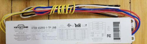 Keystone 3 or 4 Lamp T8 Instant Start Electronic Ballast KTEB-432RIS-1-TP / JNB