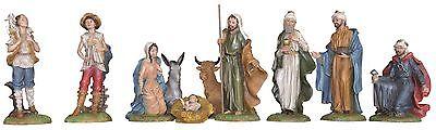 Manger Nativity 12 Pieces Resin Color Cm 22
