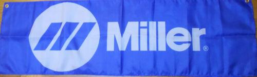 Miller Flag Welder Automotive Mancave Mig Garage Mechanic Banner 58x17in