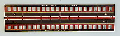 GULF MOBILE & OHIO SIDES FOR COACH #140 HO Model Railroad Plastic Detail BB51125