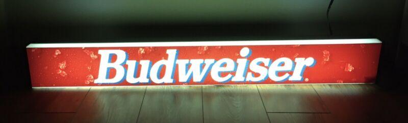 Budweiser Beer Lighted Sign Bar Eagle 1993 Vintage