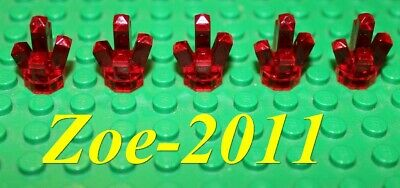 Lego Transparent Red Rock 1x1 Crystal 5 point 5 pieces (5 Piece Transparent Cherry)