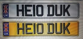 "Private Reg Plate - Timeless & Friendly ... ""HELO DUK"""