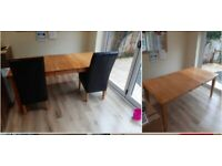 Table & 6 chairs, extendable, deliver locally
