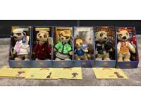 6 x meerkats in boxes with certificates