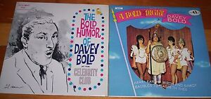 2 vinyl record albums DAVEY BOLD standup comedian comedy