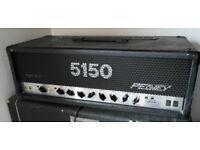 Peavey 5150 mk1 guitar valve amp head and vintage Hiwatt 4x12 cab