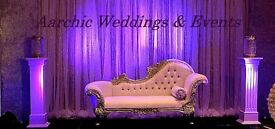 Aarchic Weddings & Events, Venue Styling. Wedding stages,mandaps,backdrops, head table, table decor