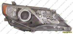 Head Light Passenger Side HID Without Bulb/Module High Quality Toyota Camry 2012-2014