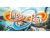 2 x Thorpe Park tickets 16th Aug £30