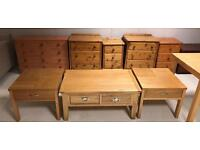 Tables and bedside drawers