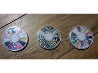 As New Assorted Nail Gems   Nail Art   Rhinestones   Decor   Sparkle   Studs   Gems   Mexborough