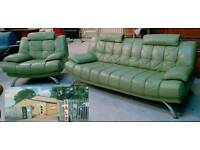 Retro looking leather 3 and chair can deliver 07808222995